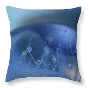Blue Wave 1 Throw Pillow