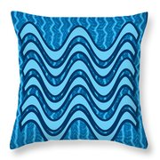 Blue Wave Over Wave Pattern On Gifts Shirts Pillows Tote Bags Phone Cases Shower Curtains Duvet Cove Throw Pillow