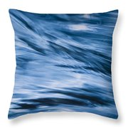 Blue Wave Water Throw Pillow