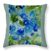 Blue Wet On Wet Throw Pillow