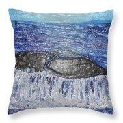 Blue Whale 1 Throw Pillow