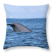 Blue Whale Tail Flop Throw Pillow