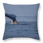 Blue Whale Tail Throw Pillow