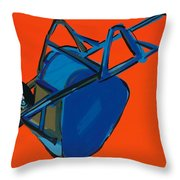 Blue Wheelbarrow Throw Pillow