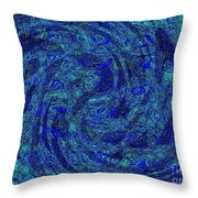 Blue Whirl Wind In The Sky Throw Pillow