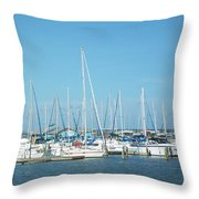 Blue White And Blue Throw Pillow
