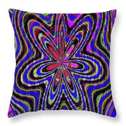 Blue White And Red Abstract #2944e2c Throw Pillow