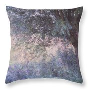 Blue Willow. Monet Style Throw Pillow