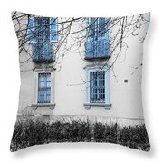 Blue Windows And Balconies Throw Pillow