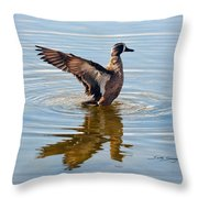 Blue Winged Teal 3 Throw Pillow