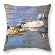 Blue Wings Throw Pillow