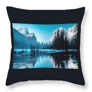 Blue Winter Fantasy. L A Throw Pillow