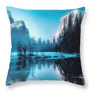 Blue Winter Fantasy. L B Throw Pillow
