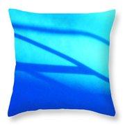 Blue Winter Shadows  Throw Pillow