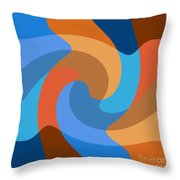 Blue Within Blue Throw Pillow