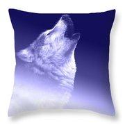 Blue Wolf    -007 Throw Pillow