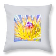 Blue Yellow Lily  Throw Pillow