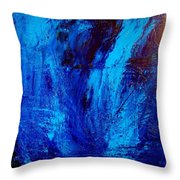 Blue Yoga Throw Pillow