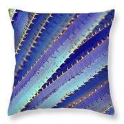 Blue Yucca Throw Pillow