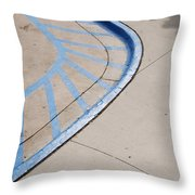 Blue Zone Throw Pillow
