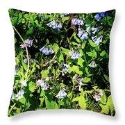 Bluebell 22 Throw Pillow