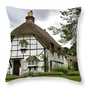 Bluebell Cottage Throw Pillow