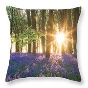Bluebell Dawn Throw Pillow