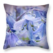 Bluebell Glade Throw Pillow