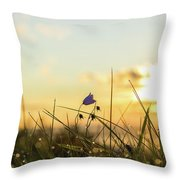 Bluebell In The Sunrise Throw Pillow