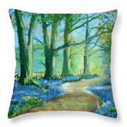 Bluebell Walk Throw Pillow