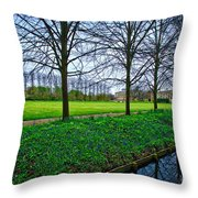 Bluebells In England Throw Pillow