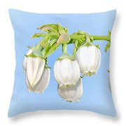 Blueberry Blossoms Throw Pillow