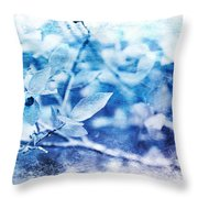 Blueberry Blues Throw Pillow