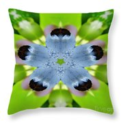 Blueberry Kaleidoscope Throw Pillow
