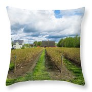 Blueberry Rows Throw Pillow