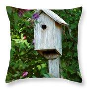 Bluebird Haven Throw Pillow