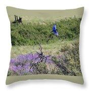 Bluebird Pair In Blickleton Throw Pillow