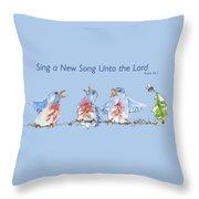 Bluebirds Singing A New Song Bd002 Throw Pillow