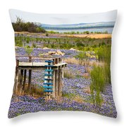 Bluebonnet Lakeshore Throw Pillow