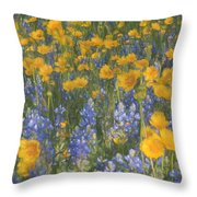 Bluebonnets And Wildflowers Throw Pillow