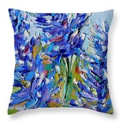 Bluebonnets Of Texas Throw Pillow