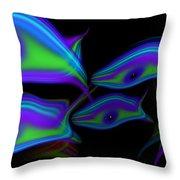 Bluefish2 Throw Pillow