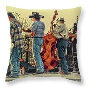 Bluegrass Evening Throw Pillow