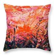 Bluegrass Sunrise - Crimson A-left Throw Pillow
