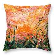 Bluegrass Sunrise - Desert A-left Throw Pillow