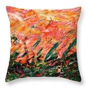 Bluegrass Sunrise - Desert B-right Throw Pillow