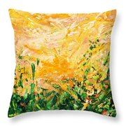 Bluegrass Sunrise - Lemon A-left Throw Pillow