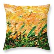 Bluegrass Sunrise - Lemon B-right Throw Pillow