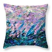 Bluegrass Sunrise - Ocean B-right Throw Pillow