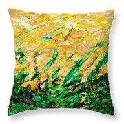 Bluegrass Sunrise - Olive B-right Throw Pillow
